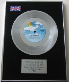 SHEENA EASTON - THE LOVER IN ME PLATINUM single presentation DISC